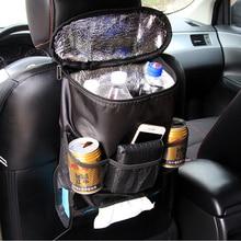 منظم للمقعد الخلفى مزود بمبرد حقيبة التخزين سيارة حقيبة للحمل متعددة جيب السيارات سيارة تخزين الأنسجة صندوق سيارة التصميم