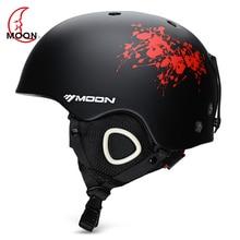 MOON Открытый Интегрированный лыжный шлем с регулируемым ремешком вентиляционные спортивные шлемы для велоспорта катания на лыжах