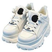 2021 chunky trainer marca de luxo sapatos mulheres tênis plataforma de couro genuíno tênis senhoras moda lazer sapatos de pai