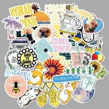 50 шт. мультяшная желтая VSCO наклейка для девочек s для детской игрушки Водонепроницаемая наклейка для DIY чемодана ноутбука велосипедный шлем автомобильные наклейки