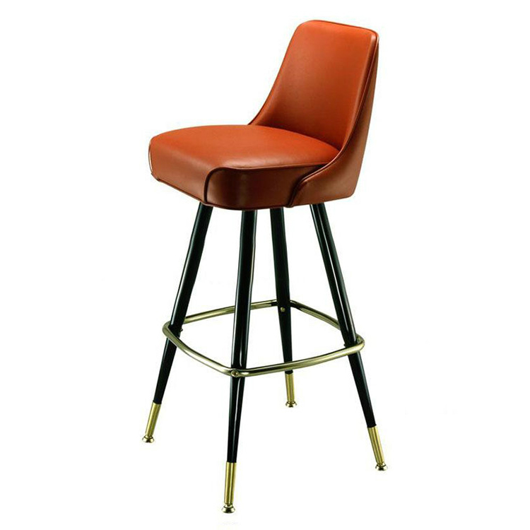 Nordic Solid Wood Bar Chair Simple Leisure Dining Chair Nordic Restaurant Chairs Creative Gold Metal Chair Living Room Furniture