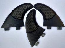 Fcs aletas prancha de surf semi fibra de vidro carbono aileron impulso preto médio aletas surf quilha fcs surf acessórios