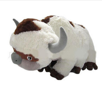 55cm Anime Kawaii Avatar Last Airbender Appa Plush Toys Soft Stuffed Animal Brinquedos Dolls Toys For Kids Christmas Gift