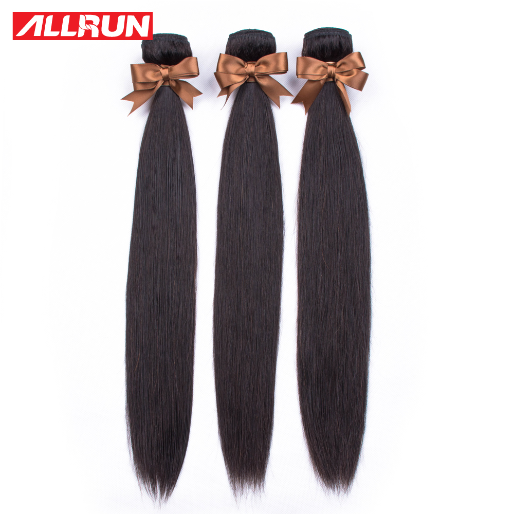 H27da952d6d5f4e02b0f50f31a975a4d4E Allrun Malaysian Straight Hair Bundles With Frontal Closure 13*4 Human Hair Bundles With Closure Non-Remy Hair Low Ratio