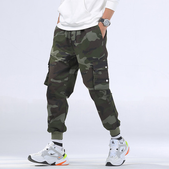 ZOGAA M-8XL Plus Size Mens Camo Cargo Pants Autumn Casual Military Trousers Winter Outfit Cotton Hip Hop Camouflage Joggers