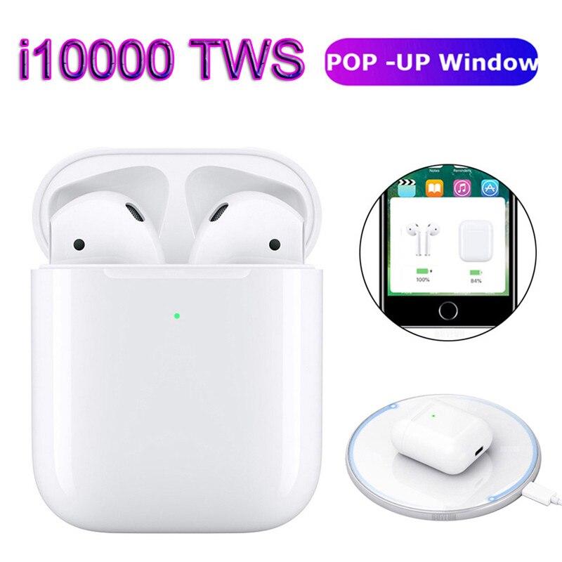 I10000 TWS Pop Up Bluetooth Earphone Wireless Charging Earphones PK 1:1 Replica W1chip I9s I10 I30 I60 I100 I200 TWS I 500