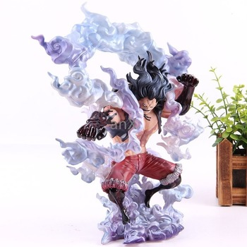 цена на 28CM King of Artist Luffy Figure Gear 4 The Snakeman Luffy PVC Collection Model Toy Anime One Piece Monkey D Luffy Action Figure