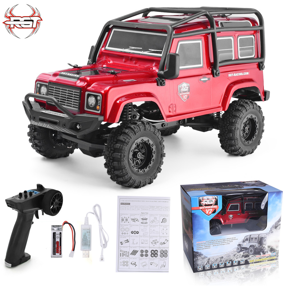 RGT Rc Crawler 4wd Off Road Rc Car 4x4 Lipo Monster Truck RTR Rc Rock Crawler 1/24 Scale Electric Power Rc Toys With Lights