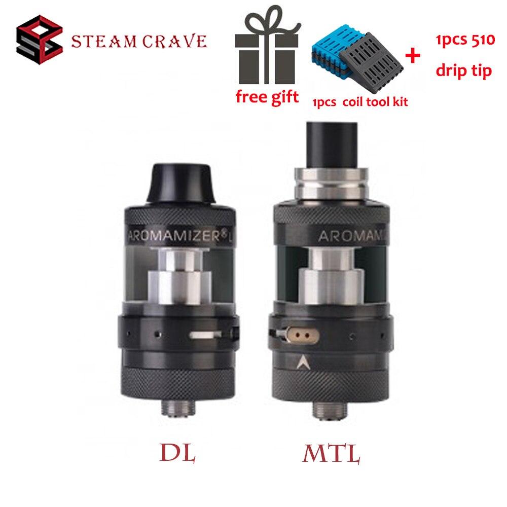 Original Steam Crave Aromamizer Lite MTL&DL RTA V1.5 23mm Vape Tanksingle Coil AFC Airhole Options DL Atomizer Vape 510 Thread