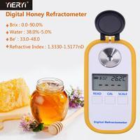 Yieryi DR301 Цифровой рефрактометр для мёда 0 90% измерительный прибор для измерения содержания сахара медовый рефрактометр