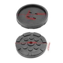 1Pc negro de goma robo Pad para montacoches Anti-deslizamiento superficie herramienta carril Protector de servicio pesado para montacoches