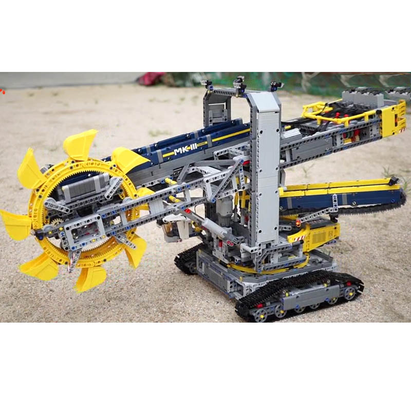 <font><b>legoinglys</b></font> 20015 3929pcs <font><b>Technic</b></font> series bucket wheel excavator electric car Model city building blocks <font><b>42055</b></font> Bricks Toys Gift image