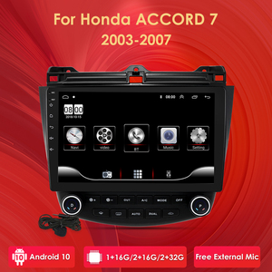 """Image 1 - Ossuret 10"""" Android 10 Car radio GPS Navigation for Honda ACCORD 7 2003 2004 2005 2006 2007 SWC FM CAM IN BT USB DAB DTV OBD PC"""