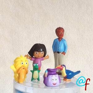 "Image 2 - GO,Diego,GO 5pcs and 6pcs Dora The Explorer US Original Order Children Toys Dora Diego and Animals Dolls 5cm 2"""