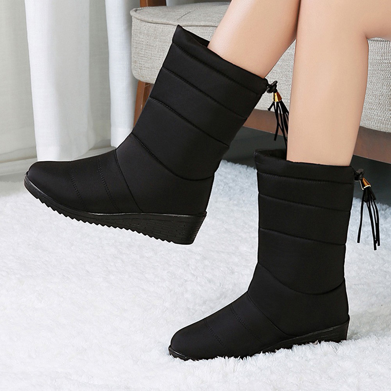 Snow-Boots-Down-Mid-Calf-Boots-For-Women-39-S-Shoes-Women-39-S-Winter-Boots