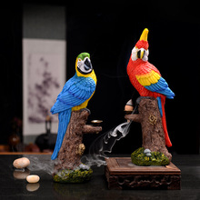 Shopify-Dropshipping New Macaw Resin Incense Burner Backflow Smoke Incense Holder Handicraft Home Decor 2019 Mother's  Gift стоимость
