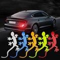 Автомобильный Безопасность Предупреждение Mark Gecko крепления светоотражающей полоски Стикеры для Audi A1 A3 A4 B6 B8 B9 A3 A5 A6 A7 A8 Q2 Q7 Q3 Q5 R8 TT S5 S6 S7 S8
