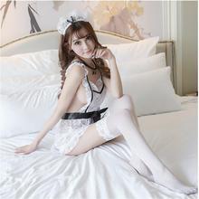 Женский сексуальный костюм для костюмированной вечеринки, кружевной костюм горничной, костюм французской горничной, костюм принцессы, женская одежда, платье для костюмированной вечеринки