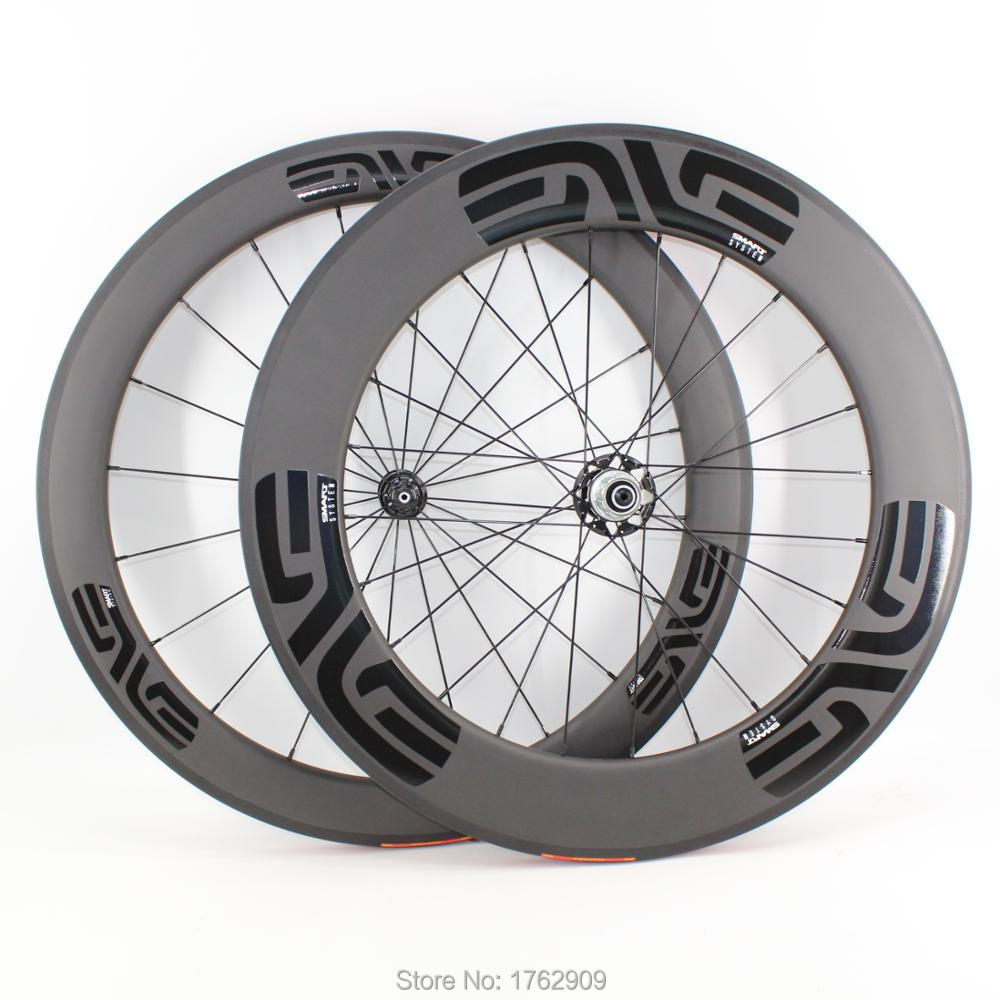 88mm Clincher Bicycle Wheels Novatec Hub R13 Carbon Bike Wheelset 700C 3K matte