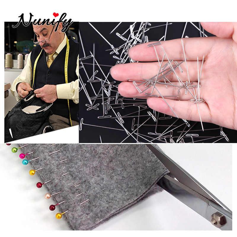 Nunify 50 Pcs T-Pins Für Perücke Pins Perücke Machen Werkzeuge Perücke Zubehör T Pins Nadel Mannequin Kopf Perücke stand Nähen Schnur Und Handwerk