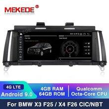 """8.8 """"터치 PX3 안 드 로이드 10 4 + 64G 자동차 라디오 오디오 스테레오 BMW X3 F25/BMW X4 F26 (2011 2016) GPS 네비게이션 MP5 블루투스 와이파이"""