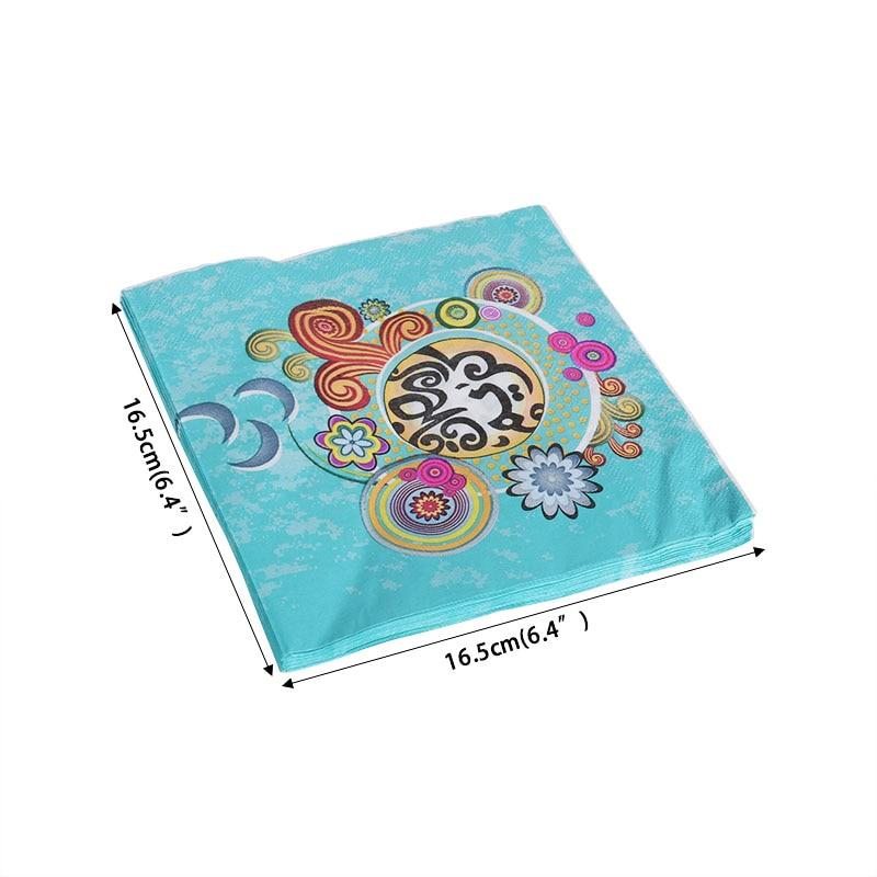 20pcs Ramadan Kareem Eid Mubarak paper napkin Ramadan Mubarak decoration EID for Ramadan party table decor supplies Tissue for