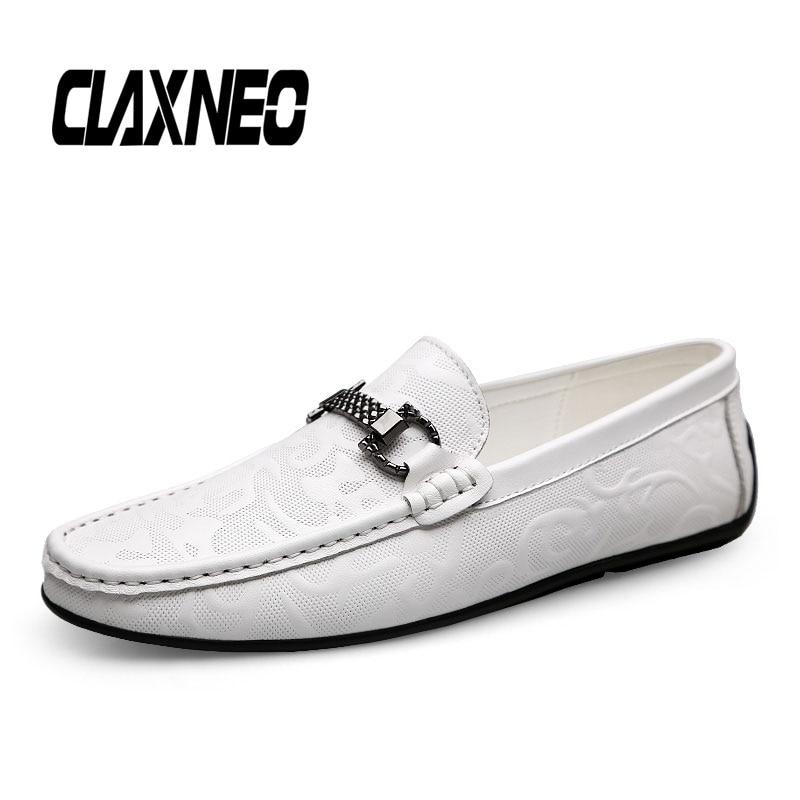 CLAXNEO Man Moccasins Genuine Leather