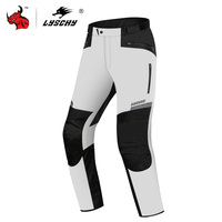 LYSCHY Waterproof Motorcycle Pants Men Motorbike Riding Chaqueta Winter Moto Pants Motorcycle Protective Gear Armor Pants