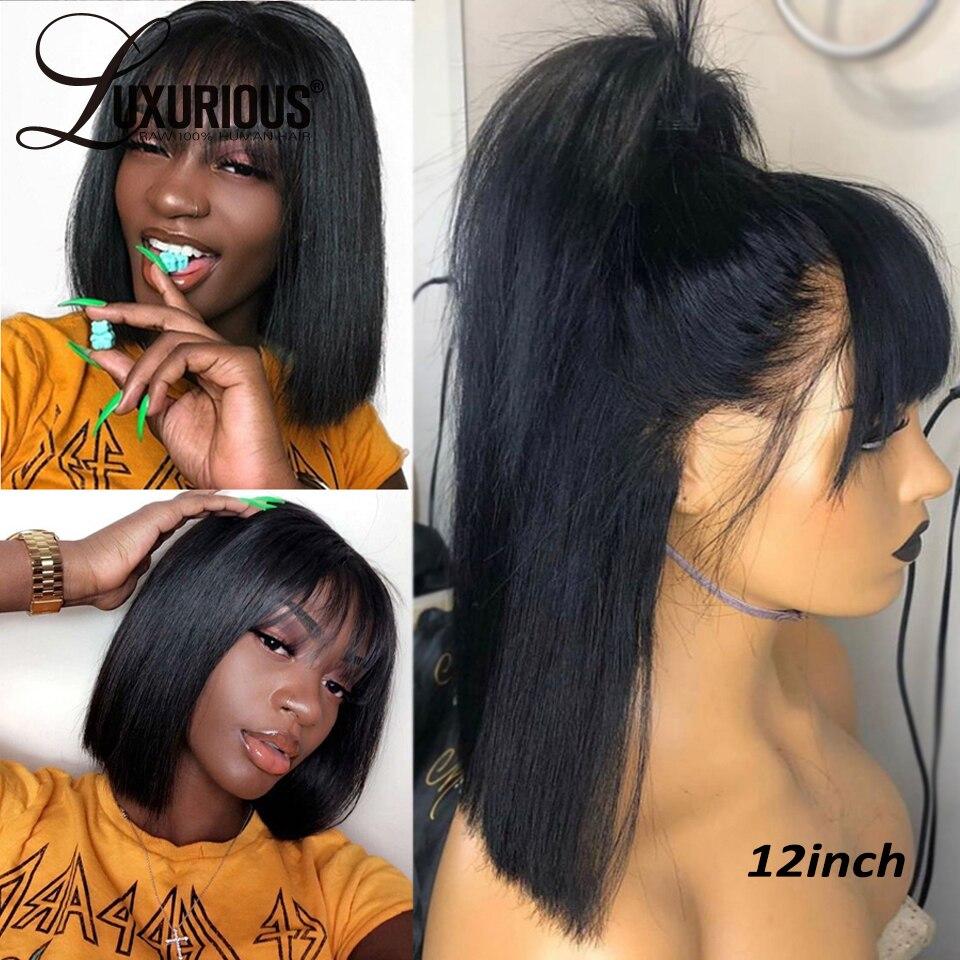 Peruca de cabelo natural de remy brasileiro 180% densidade frente do laço perucas de cabelo humano para as mulheres