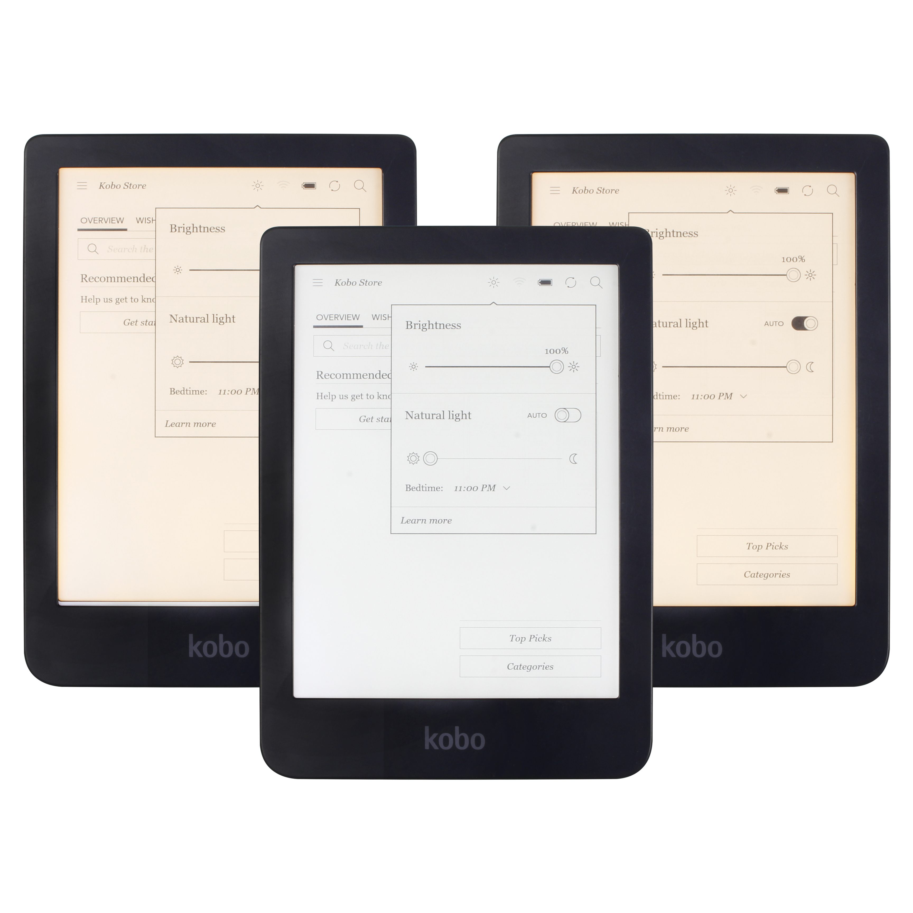 KOBO Clara HD N249 EReader Touch Screen E Book Reader E-ink Front Light E-books Reader White / Warm Light