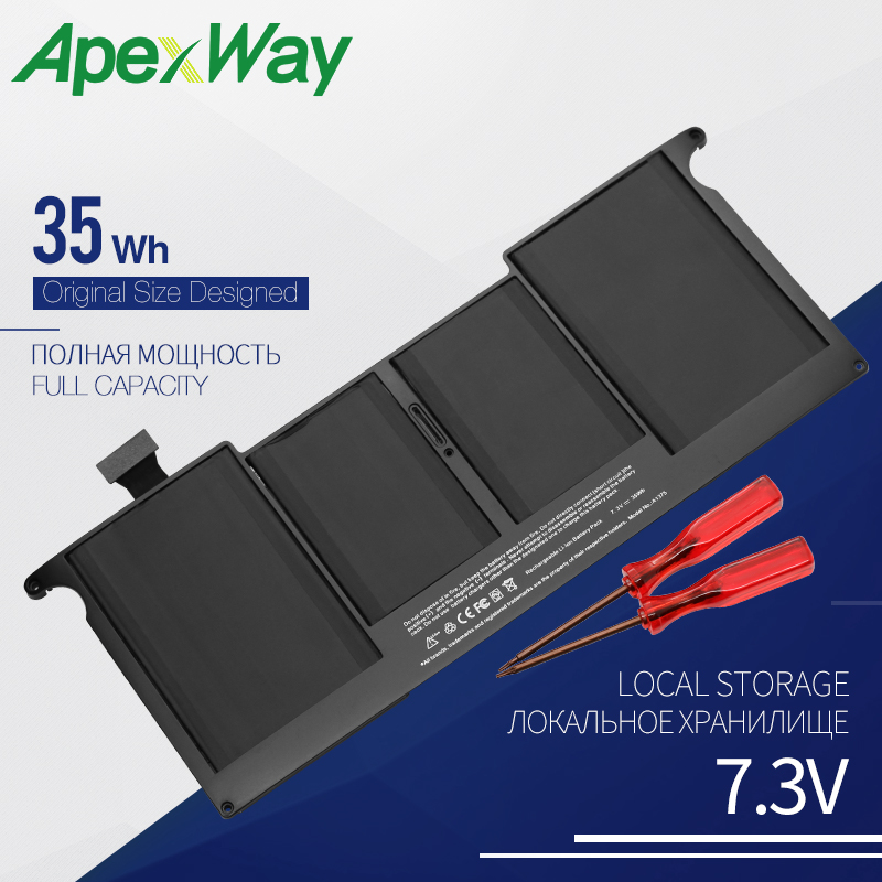 Apexway 7.3V 35WH Laptop <font><b>Battery</b></font> for Apple <font><b>MacBook</b></font> <font><b>Air</b></font> <font><b>11</b></font>