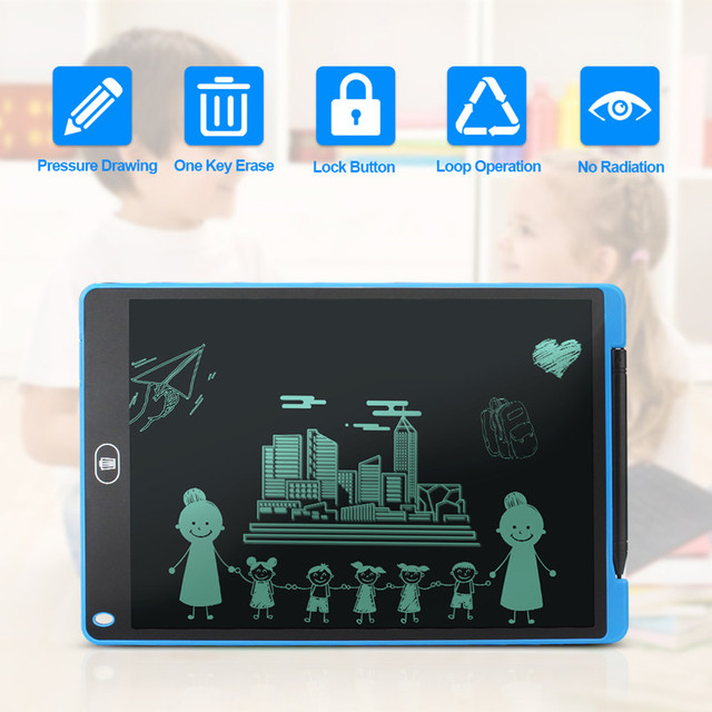 Graphics Tablet Electronics Drawing Tablet Smart Lcd Writing Tablet Erasable Drawing Board 8.5 12 Inch light Pad Handwriting Pen 1