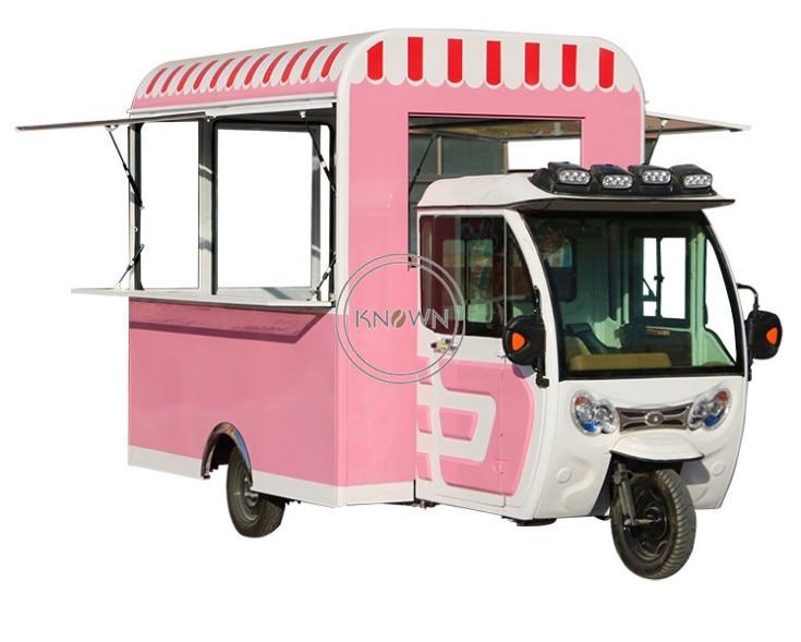 New Arrive ! Hot Sale Customized 3.8m Long Food Kiosk Design Electric  Food Truck Trailer Ice Cream Food Cart