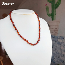 LUER 100% классическое ожерелье из натурального янтаря/балтийские амберы ожерелье/браслет/сертификат подлинности/детский подарок 14 цветов