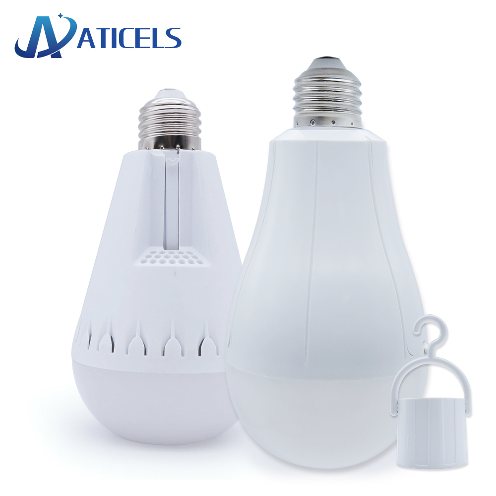 110-220V Smart E27 LED Bulb 12W 15W 6500K Rechargeable Emergency Light bulb for Outdoor Camping Working Home Back-up Night light