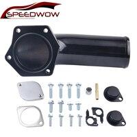 SPEEDWOW Aluminum Diesel EGR Valve Delete Kit EGR Removal Kit For Ford Powerstroke 2008 2010 6.4L With High Flow Intake Elbow