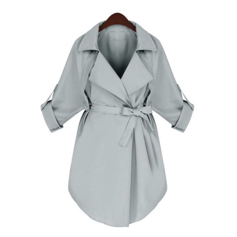 2020 Trench Coat For Women Windbreaker Fashion Plus Size Spring Summer Long Trench Coats Black Manteau Femme JR5626