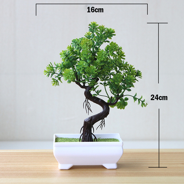 Artificial Plants Potted Bonsai Green Small Tree Plants Fake Flowers Potted Table Ornaments For Home Garden Party Hotel Decor 4