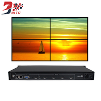 SZBITC Video Wall Controller 2x2 2x3 3x3 Video Processor 180 degrees Rotation 1080P For 4 TV Screen Splicing With Remote Control