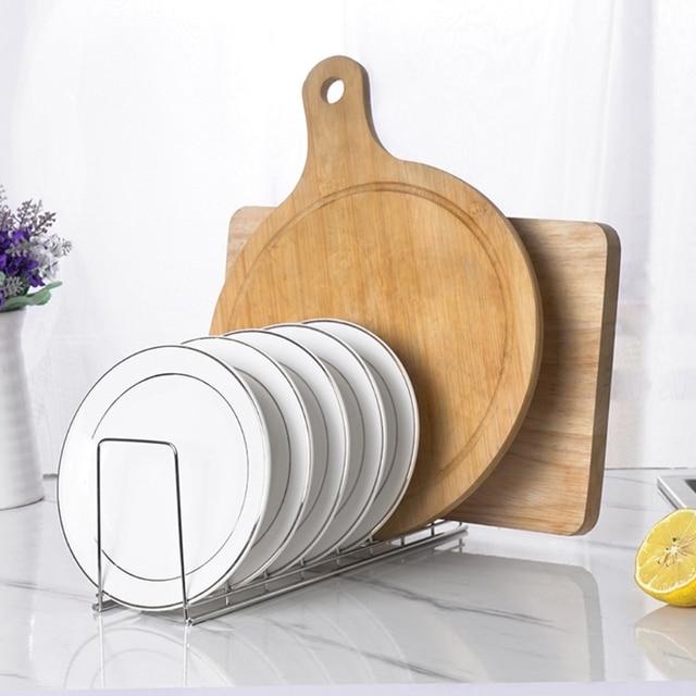 Kitchen Organizer Stainless Steel Dish Bowl Rack Drying Shelf Utensil Cutlery Drainer Storage Holder 5