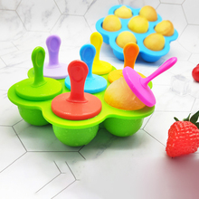 Silicone Mini Ice Rod Ice Cream Mold Silicone Ball Lolly Maker Popsicle Molds Baby DIY ice lattice 7-hole Mold Safe Cake Tools cute bow tie silicone ice mold ice maker mold deep pink