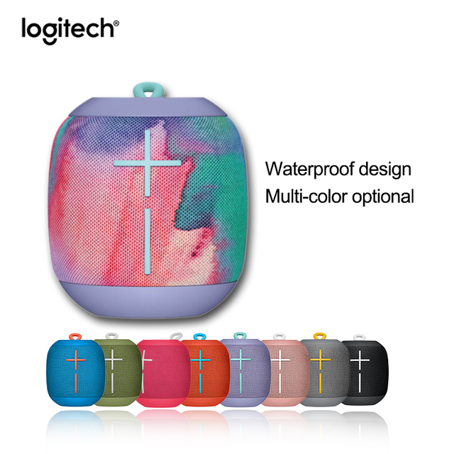 Logitech Ultimate Ears WONDERBOOM Portable Bluetooth Speaker Speaker IPX7 Waterproof 10 Hour Battery Life Surround sound