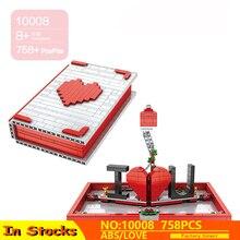 New JK Love 520 Creative Bricks The Romantic Story Book Model Kit Building Blocks Compatible Lepining Toys Lover Valentine Gift