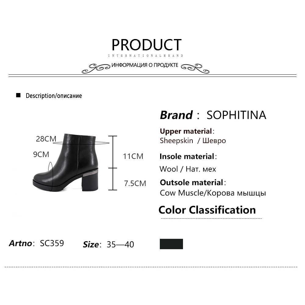 SOPHITINA Neue Stiefeletten Bequem Platz Ferse Runde Kappe Hohe Qualität Echtes Leder Schuhe Heißer Verkauf frauen Stiefel SC359