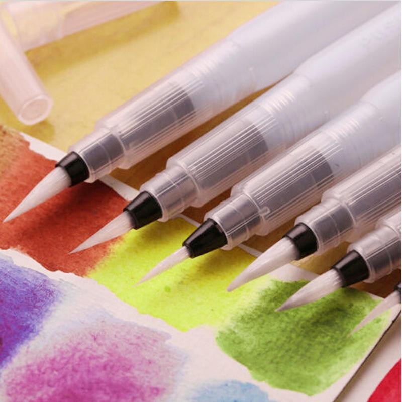 New 1Pcs/3Pcs Pilot Ink Pen Water Paint Brush Watercolor Calligraphy Painting Tools Sets
