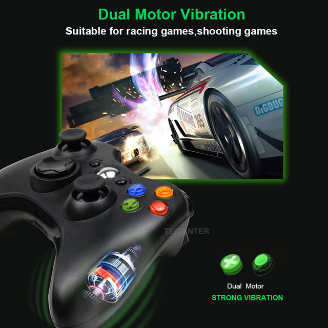 USB Wired Vibration Gamepad Joystick For PC Controller For Windows 7 / 8 / 10 Not for Xbox 360 Joypad with high quality 2