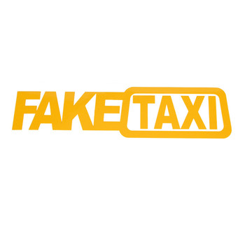 Hot sale Car Sticker FAKE TAXI JDM Drift Turbo Race Auto Funny Vinyl Decal Sticker 27IN*2.36 IN image