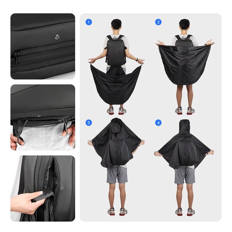 Mark Ryden 17 cal plecak na laptopa płaszcz przeciwdeszczowy mężczyzna torba USB ładowania przestrzeń wielowarstwowa podróży mężczyzna torba Anti  złodziej Mochila w Plecaki od Bagaże i torby na  Grupa 2