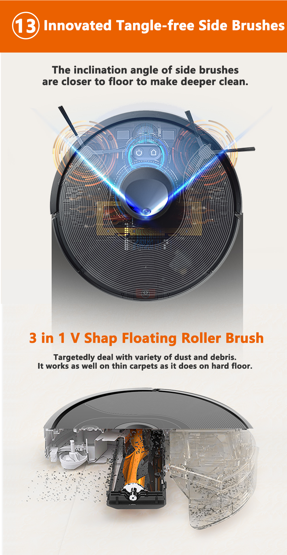 H27de6e44f5254bde9e4e190281d68fddj ABIR X6 Robot Vacuum Cleaner with Camera Navigation,WIFI APP controlled,Breakpoint Continue Cleaning,Draw Cleaning Area,Save Map