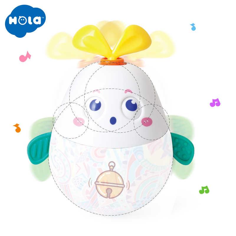 HOLA 3132 детские погремушки Tumbler игрушки для новорожденных Roly-Poly кролик мобильные музыкальные игрушки для малышей 0-12 месяцев малыш подарки на день рождения